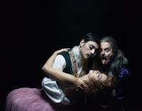 Κωνσταντίνος Αβαρικιώτης,                                                                     Εύη Σαουλίδου,                                                                     Γιώργος Χρυσοστόμου,                                                                                         Δωδέκατη Νύχτα (2016)                                                             Εθνικό Θέατρο-Κτίριο Τσίλλερ Κεντρική σκηνή